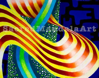 Modern Art Painting, Visionary Art, Abstract Art, Contemporary Art, Psychedelic Artwork, Energy Wave Painting Series, Energy Wave, #2