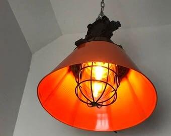 The industrial Lighting - Polam Wilkasy OMP 200- Orange & Black