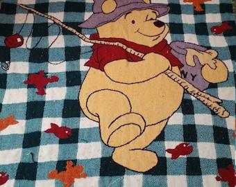 Winne the Pooh Disney Fishing Blanket Quilt