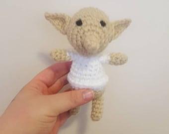 Dobby inspired cat toy~ catnip crochet~ Harry potter cat toy