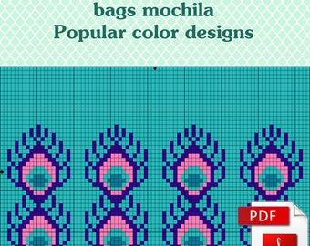 Wayuu mochila bags - crochet mochila pattern - Popular color designs - Ideas for gifts