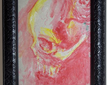 Skull red yellow white