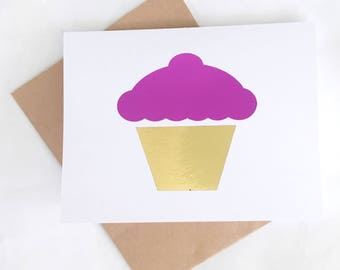 Cupcake Birthday Card - Cupcake Card - Best Friend Birthday Card - Unique Birthday Card - Just Because Card - Happy Birthday Card - Cheer Up