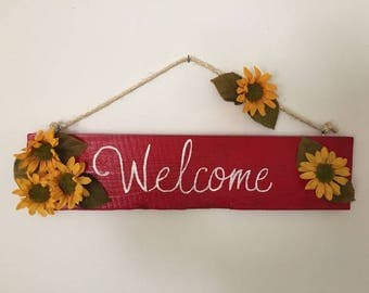 Red Sunflower Welcome