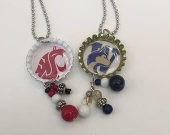WSU and UW Bottle Cap Necklaces