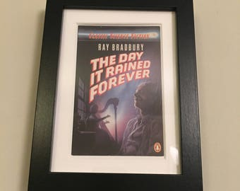 Classic Penguin Science Fiction Book cover print- framed - The Day It Rained Forever by Ray Bradbury
