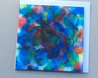 Underwater - Hand Painted Original - Art on a Card -Greeting card