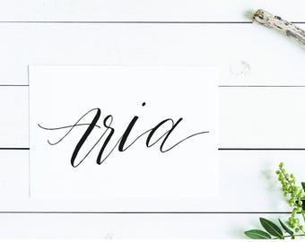 Aria | Nursery Art | Baby Name