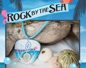 Rock by the Sea: Guitar Pick Logo Necklace