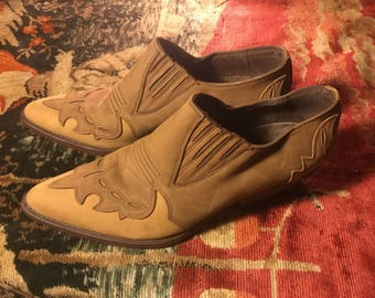 70's Vintage leather Guess by Georges Marciano size 8.5 booties