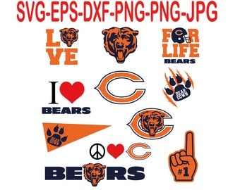 Chicago Bears.Svg,eps,dxf,png.