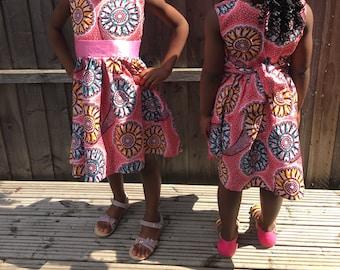 African Print, Ankara Dress, Summer Dress, Girls Dress