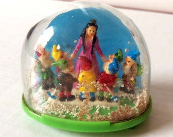 Snow Globe Snow White and Seven Dwarfs West Germany Vintage