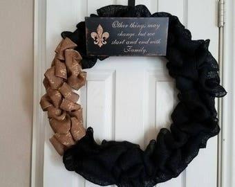 New Orleans Door Wreath