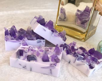Crystal Inspired Soap, Amethyst Soap Bar, Soap Bar
