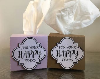 Mini Tissue boxes|Wedding decor|Wedding favors|Happy tears