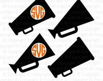 Megaphone Monogram digital clipart speaker svg, dxf, png, eps, pdf files for cut Cricut Silhouette scrapbook stickers craft instant download