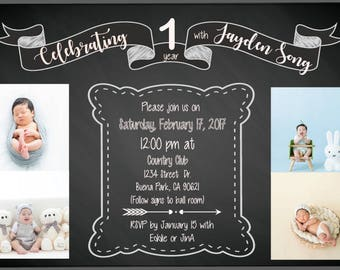 DIGITAL 1st birthday invitation
