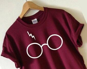 Harry Potter Lightening Bolt Glasses Tee