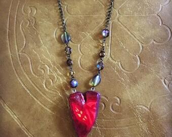 A Woman's Garden (Hand sculpted necklace)