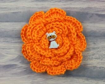 Poochy Keen, Jelly Bean Crochet Flower Accessory