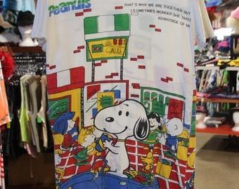 90's Peanuts Oversized T Shirt Dress