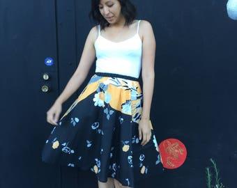 Vintage 1970's floral skirt
