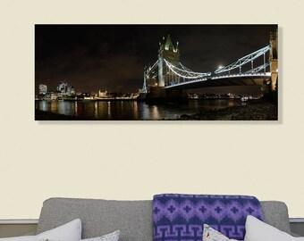 Tower Bridge London Panoramic photograph