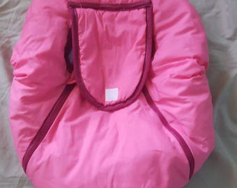 Pink and Purple Infant Car Seat Cover