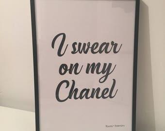 I swear on my Chanel print
