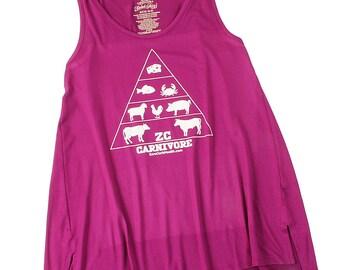 Women's Zero Carb Carnivore Pyramid Tunic Tank Top