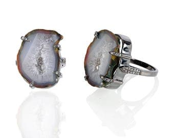 Diamond Ring with Baby Geodo