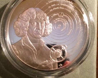 Nicolaus Copernicus - Sterling Silver History of Science (Proof)
