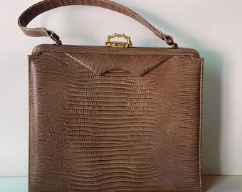 Vintage Tailored Beige Clutch Handbag