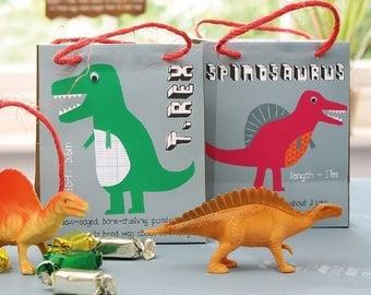 8 Dinosaur Party Bags, Dinosaur Loot Bags, Dinosaur Party Decorations, Party Bags, Loot Bags, Dinosaur party, Dinosaur party decor