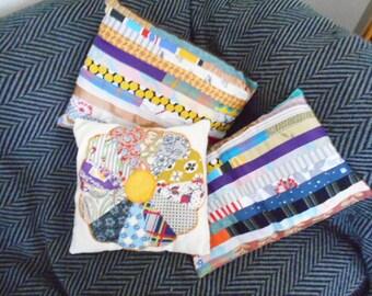 decorative throw pillows, machine sewn, ready to use