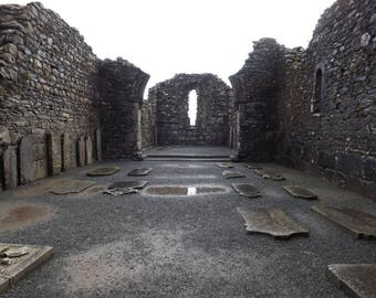 Ruins of a Church in Glendalough, Ireland