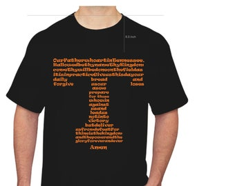 Custom Lord's Prayer in Tennessee Vols Power T SVG and Studio