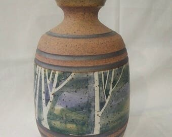 Pottery Birch Trees by Peter Price