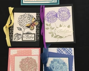 Floral Greeting Cards (Set of 5) Group E