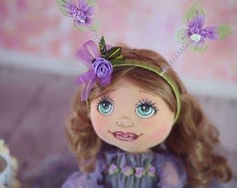 Baby doll Interior doll Nursery doll Art doll Handmade doll Pink doll Tilda doll Soft doll Decor doll Cloth doll Rag doll Soft doll by