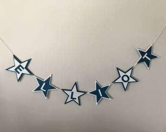 Personalised Star Bunting, wooden star bunting, baby bunting, nursery decor, baby decor, baby shower gift, baby shower decoration