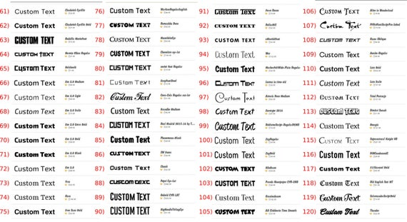 Custom Vinyl Decal Vinyl Lettering Vinyl Stickers Letters - Custom vinyl decals numbers