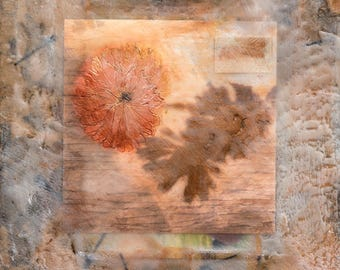 Encaustic (Wax) painting/collage