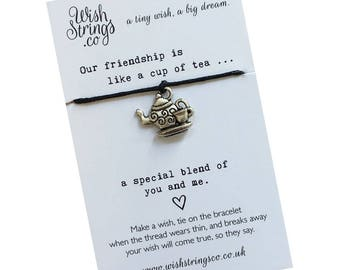 Friendship Tea WishString Wish Bracelet