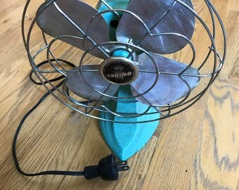 Vintage Eskimo Fan, Model 1100r -- it works!!