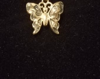 Vintage Msco marked 925 necklace with 925 butterfly