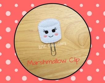 Planner Clip Marshmallow-Planner Clip-Planner Accesories-Planner Supplies- Paper Clip-Marshmallow Feltie-Marshmallow  Paper Clip