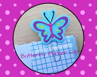 Butterfly Planner Clip -Planner Clips-Planner AccesoryPlanner Supplies- Paper Clip-Unicorn Feltie-Filofax- Paper Clip-Journal Clip- Bookmark