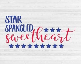 Star Spangled Sweetheart - SVG Cut File